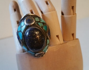 Beautiful turquoise silver ring