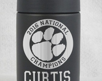 12 oz YETI colster Clemson Tigers National Champs Championship Custom Personalized Authentic