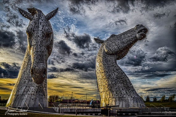 The Kelpies, Photographic print, Scotland, Falkirk, Home & decor, Wall Art, landmark photography, scottish photography, fine art photography