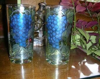 Vintage Bacchus  Highball glasses or Tumblers
