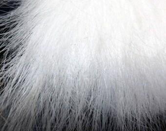 """White FoxFaux fur Shag (4"""" Pile)"""