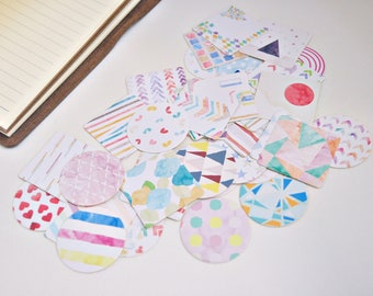 40 pcs Watercolour Japanese Planner Stickers, Decorative Stickers - STK082