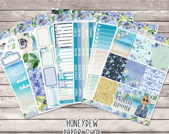 Endless Summer Weekly Kit || Summer Beach Floral Glamour Stickers || Planner Stickers Kit