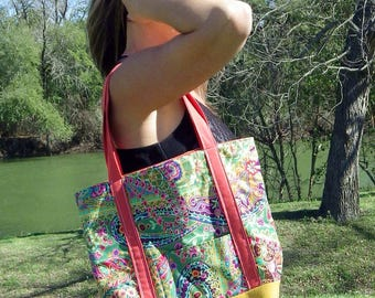 Autumn Floral Tote