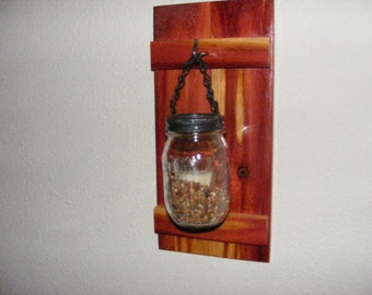 Mason Jar Rustic Candle Holder