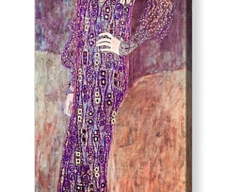 "Gustav Klimt ""Portrait of Emilie Floge 1902"" Repro Canvas Art 8"" x 20"", 12"" x 30"""