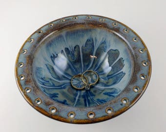 Blue Jewelry Bowl