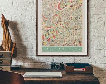 "Print - ""KANSAS CITY"" - Wall Art, Home Decor, Wall Hanging, Original Print, Minimal"