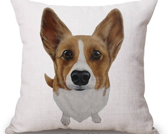 """Cute Dog Cushion Cover with Cushion Insert Included- 18"""" by 18"""" -"""