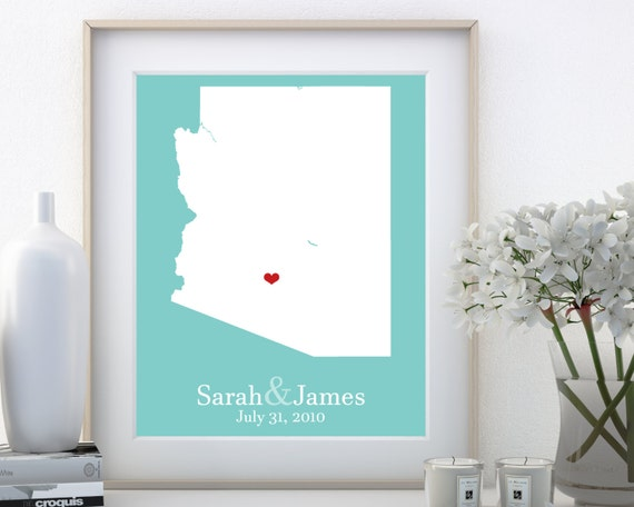 Destination Wedding Gifts For Parents : Arizona Wedding Personalized Destination Gifts for Parents Custom ...