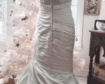 Sz S-M MERMAID FANTASY FAIRYTALE Wedding Gown/High End Mori Lee Designer Madeline Gardner Couture Wedding Gown