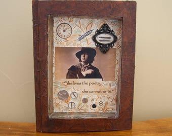Assemblage Book Art - Altered Book Art - Poetry Art - Oscar Wilde