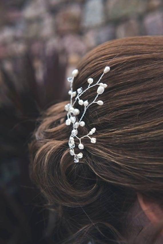 Bridesmaid Pearl and Crystal Hair Pins
