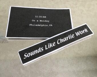 Always Sunny in Philadelphia Charlie Work Sticker Packs