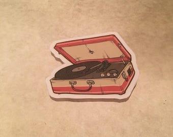 Record Vinyl Player Vintage Sticker