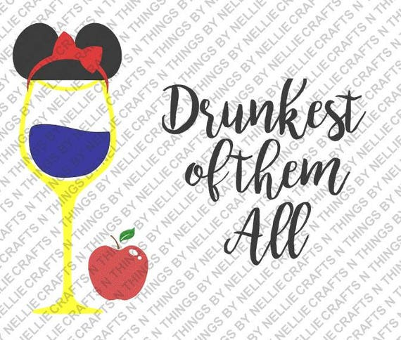 Disney Princess Wine SVG Set of 4 from ...