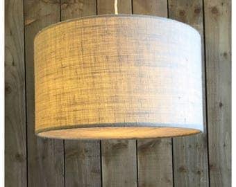 Beige  Hessian Light Shade & Hessian Diffuser 25cm 30cm 35cm 40cm 45cm 50cm 60cm 70cm FREE UK SHIPPING
