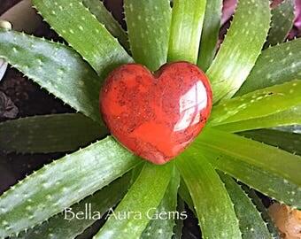 Red River Jasper Heart-Puffy Heart