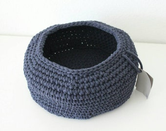 Navy Blue round basket