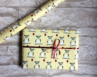 Wrapping paper owls 42 x 59 cm