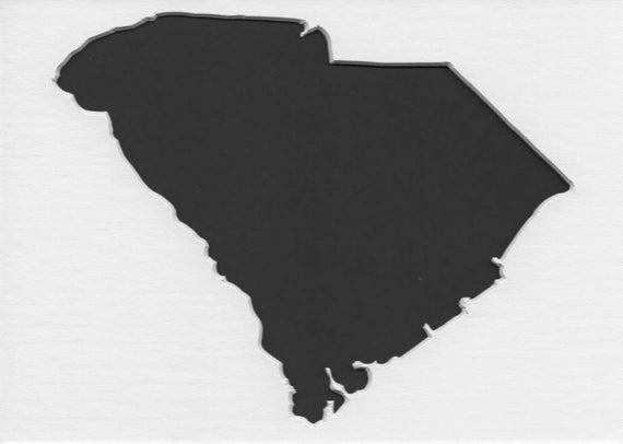 Pack Of 3 Square South Carolina State Stencils Made From 4