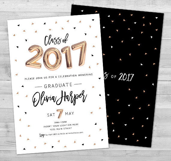 graduierung einladung 2017 abschlussfeier einladungen, Einladungen