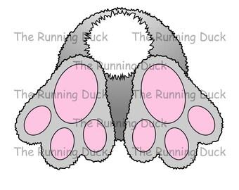 Bunny rabbit burrowing bounders digi stamp for card making. Bunny bum.