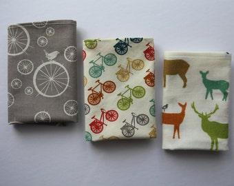3 handkerchiefs cotton - washable - wipe - reusable Kleenex - Pocket durable washable handkerchief hankie - Zero waste