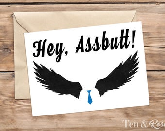 Supernatural Castiel Card - Just Because Card - Greeting Card - Birthday, Thinking of you, Hello, Missing you, Thank you