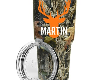 Deer Decal - Rtic Cup Decal - Ozark Tumbler Decal - Deer Antler Decal - Hunting Decal - Decal for Tumbler - Gift for Dad - Gift for Him