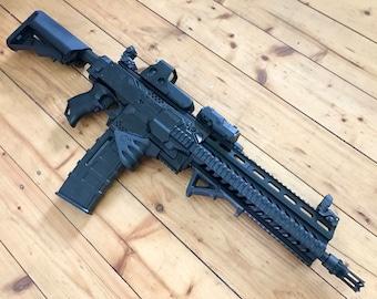 NEW* Custom Nerf Stryfe Heckler & Koch HK 416 L + Laser + Voltage Mod !