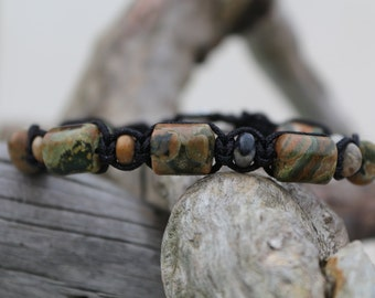 "Jewel lithotherapy, bracelet man ""Nature and creativity"""