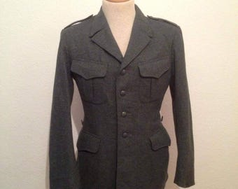 Swiss army officers jacket military wool jacket