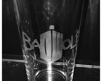 Bad Wolf Doctor Who Pint Glass Whovian