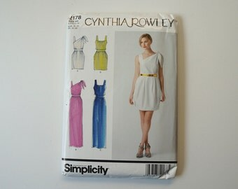 UNCUT Simplicity 2178 Cyntha Rowley Dresses In Two Lengths Paper Sewing Pattern Size 6, 8, 10, 12, 14