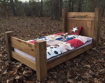 Rustic Toddler Bed Etsy