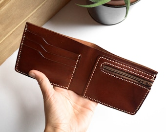 Slim Wallet in BROWN leather | Bifold wallet | Leather wallet