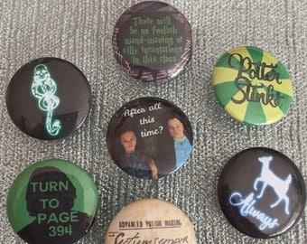 Severus Snape Collection Button badge