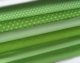 Fabric green 6 substances 50 x 145 cm