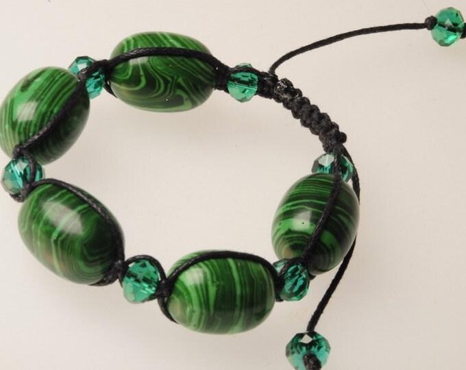 Malachite bracelet talisman amulet green bracelet female malachite gift Christmas New Year's Valentine's Day stylish malachite gift woman