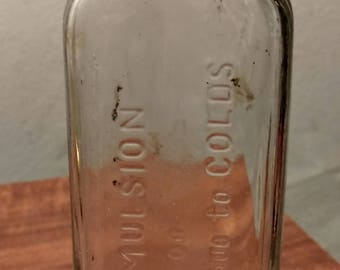Creomulson Medicine bottle for coughs and colds...early 1900's