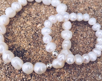 Mommy And Me Pearl Bracelets (Set of 2)