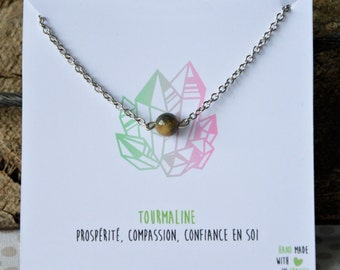 Tourmaline necklace stainless steel