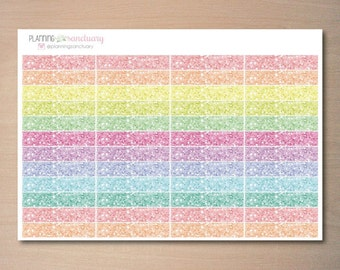 Blank Glitter Pastel Header Stickers perfect for Erin Condren Vertical Life Planner and Mambi Happy Planners
