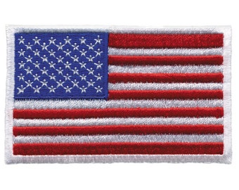 American Flag Embroidered Patch / USA Flag Patch / Iron On Patch / Sew On Patch