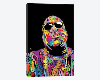 The Notorious BIG, Biggie Smalls, Biggie Smalls Art, Notorious BIG Art, Notorious BIG Poster, Notorious B.I.G. Canvas, Rap Gift, Big Poppa