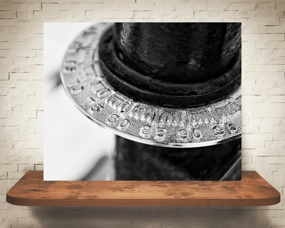 Scenic Viewer Numbers Photograph - Black White Photo - Fine Art Print - Industrial Wall Decor - Number Pictures - Numbers Wall Art