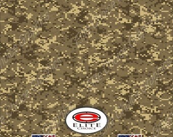 "Digital Camo Chameleon Light Desert  2 15""x52"" or 24""x52"" Truck/Pattern Print Tree Real Camouflage Sticker Roll or Sheet"