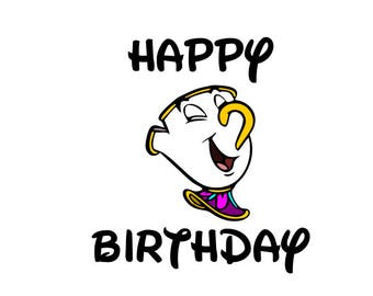 Happy Birthday from Chip; SVG file, DXF file, PNG file