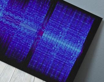 Keha - TiK ToK - 24x8 Canvas, Poster or Digital Image - Free P&P, Sound Wave Art, Audio Art